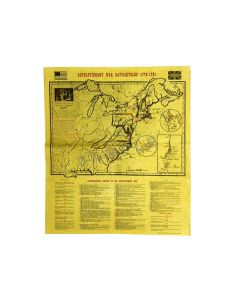 Revolutionary Battlefields Map Poster