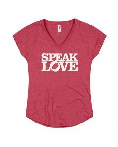 Ladies Glitter ''Speak Love'' Tee