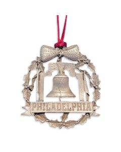 Liberty Bell Holiday Wreath Ornament