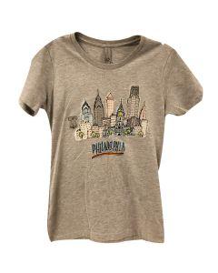 Ladies Philadelphia Cityscape Tee