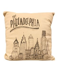 Philadelphia Cityscape Throw Pillow