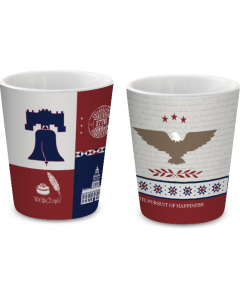 Philly Patriotic Quilt Shot Glass