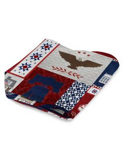 Philly Patriotic Quilt Throw Blanket