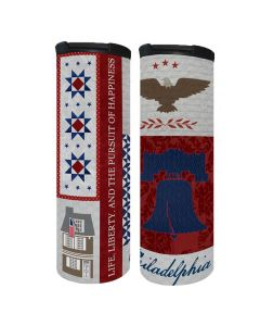 Philly Patriotic Quilt Travel Mug