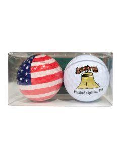 Philadelphia Collectable 2 Pack Golf Balls