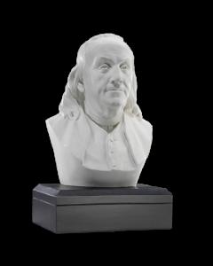 White Benjamin Franklin Bust