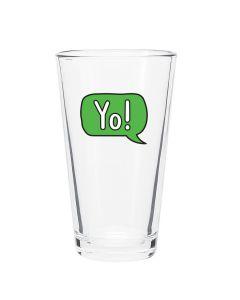 Yo! Pint Glass
