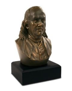 6 Inch Benjamin Franklin Bronze Bust