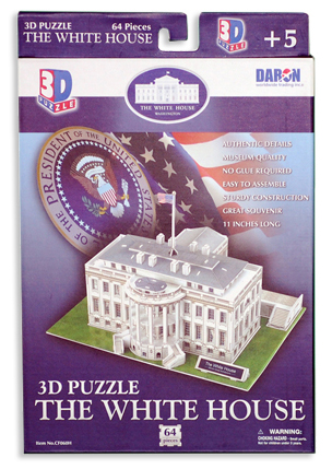 Independence Visitor Center White House 3d Puzzle Shop